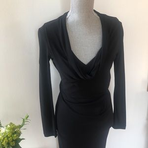 Roland Mouret Long Sleeve Dress with Lace Back